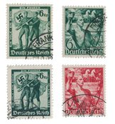 German Empire - 1938 - MICHEL 660/661 and 662/663,cancelled