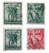 Duitse Rijk - 1938 - Michel 660-661 en 662-663 - Gebruikt