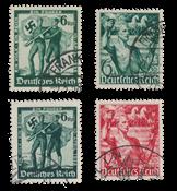 Empire Allemand - 1938 - Michel 660/661 en 662/663, oblitéré