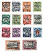 Empire Allemand - 1939 - Michel 716/729, oblitéré