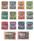 Tyske Rige - 1939 - Michel 716/729, Stemplet