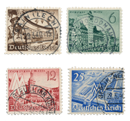 German Empire - 1940 - Michel 739/742, cancelled