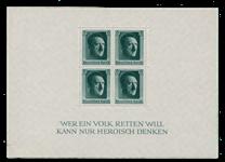Empire Allemand - 1937 - Michel Bloc 7, neuf avec charnière