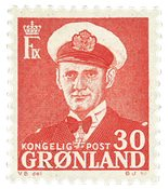 Groenland - Roi Frédéric IX - 30 øre - Rouge