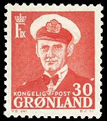 Grønland - Kong Frederik IX - 30 øre - Rød
