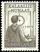Grønland - 1979. Indførelse af hjemmestyre i Grønland - 1,10 kr. - Gråbrun