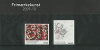 Danemark - Présentation souvenir - Art sur timbres  2009-10
