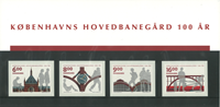 Danmark souvenirmappe Køenhavns Hovedbanegård