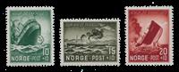 La Norvège - 1944 - AFA 301/303, neuf
