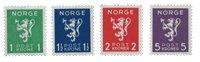 La Norvège -  1940 - AFA 208/211, neuf