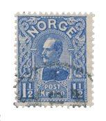 La Norvège - 1909 - AFA 73, oblitéré