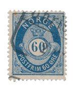La Norvège - 1877/1878 - AFA 31, oblitéré