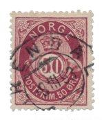 La Norvège - 1877/1878 - AFA 30, oblitéré