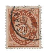 La Norvège - 1877-1878 - AFA 27, oblitéré