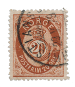 Norge - 1877-1878 - AFA 27, Stemplet