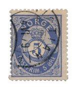 La Norvège - 1877-1878 - AFA 24, oblitéré