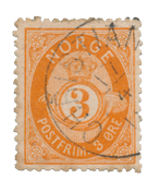 Norge - 1877-1878 - AFA 23, Stemplet
