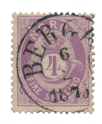 Norge - 1872-1875 - AFA 19a, Stemplet