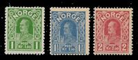 Norge - 1910 - AFA 86a/88, Ubrugt