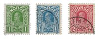 Norge - 1910 - AFA 86a/88, Stemplet