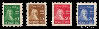 La Norvège - 1934 - AFA 167/170, neuf avec charnière