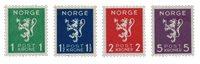 La Norvège - 1940 - AFA 208/211, neuf avec charnière