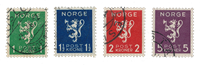Norge - 1940 - AFA 208/211, Stemplet
