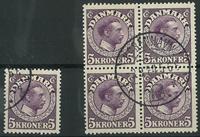 Danmark - Chr. X enkeltmærke og 4-blok