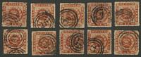 Danemark - 4 skilling brun 10 pcs