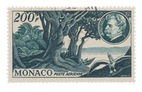 Monaco - 1955 - Yvert A59, oblitéré