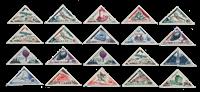Monaco - 1956 - Yvert 453/472, neuf avec charnière