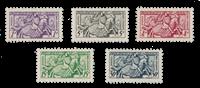 Monaco - 1951 - Yvert 371/375, neuf