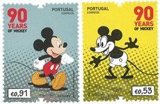 Portugal - Mickey Mouse, 90 ans - Série neuve 2v