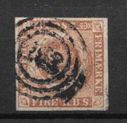 Danmark 1854 - AFA IIIb - stemplet