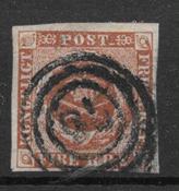 Danmark 1854 - AFA IIIe - stemplet
