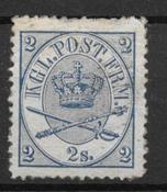 Danmark 1865 - AFA 11 - ustemplet