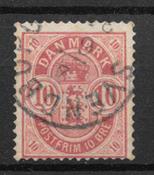 Danmark 1885 - AFA 35z - stemplet