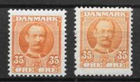 Danmark 1912 - AFA 63 + 63a - postfrisk