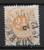 Sverige 1872 - AFA 23 - stemplet
