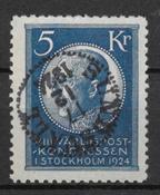 Sverige 1924 - AFA 173 - stemplet