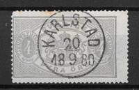 Sverige 1874 - AFA Tj. 2 - stemplet