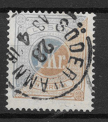 Sverige 1874 - AFA 10  Po 10 - stemplet
