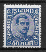 Island 1921 - AFA 103 - postfrisk