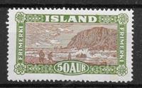 Island 1925 - AFA 118 - ustemplet