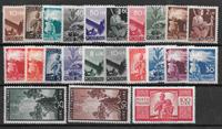 Italien 1945 - AFA 614-636 - ustemplet