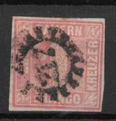 Bayern 1949 - AFA 4 - stemplet