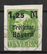 Bayern 1920 - AFA 175B - stemplet