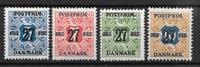 Danmark  - 4 Forskel. - postfrisk