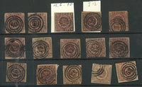 Danemark - Carte avec différents timbres 4 RBS