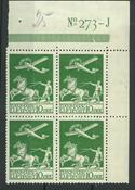 Danemark - AFA 144 bloc de 4 neuf